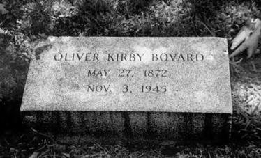 Bovard gravestone