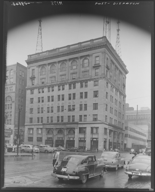 post-dispatch building 1950s