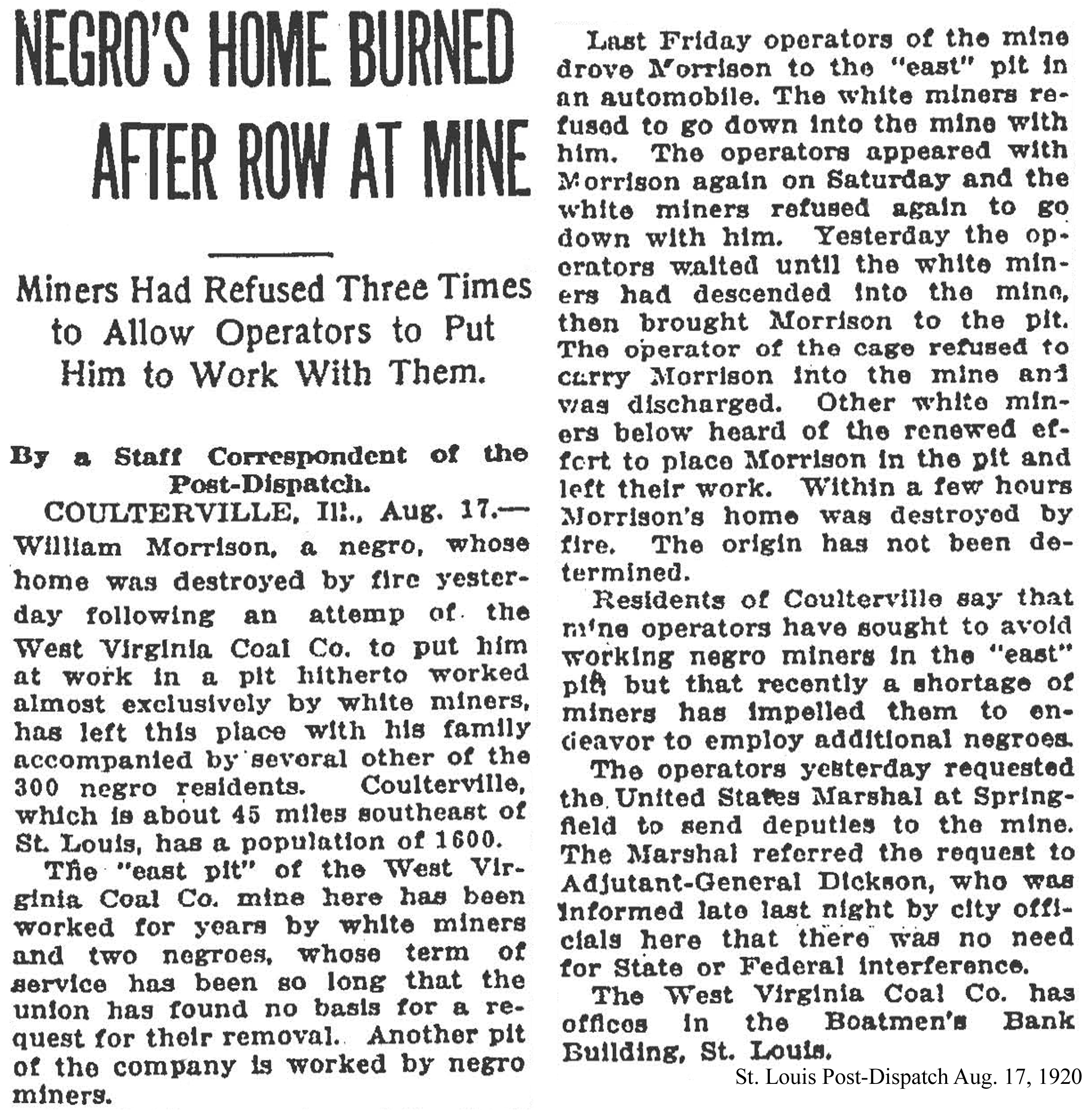 08-17-1920 negro's home burned small